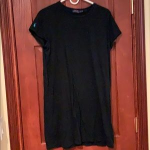 Black Polo T-Shirt Dress